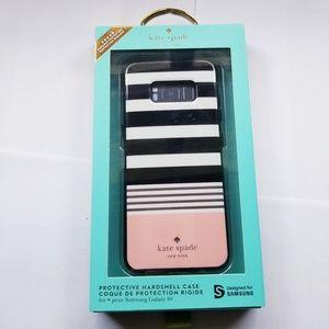 Kate Spade Hardshell Stripe Black/Rosegold Case